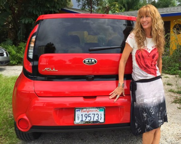 Driving the Kia Soul to my book reading