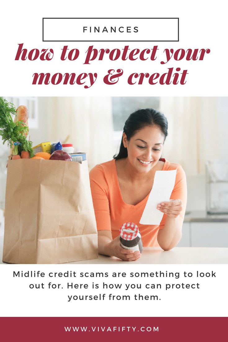 Protecting your money and your credit is always important, but midlife is a crucial time to take control of your finances and your life. Read these tips to become the master of your future. #retirement #credit #finances