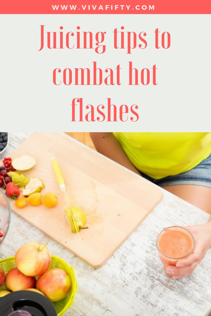 Juicing offers powerful menopause help in a glass, so plug in your juicer and be on your way fora change for the better. #menopause #juicing #hotflashes #perimenopause