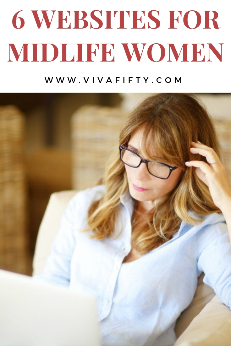These six websites are geared toward midlife women and are great resources on any number of topics and interests. #midlife #over40 #over50 #women #blogs