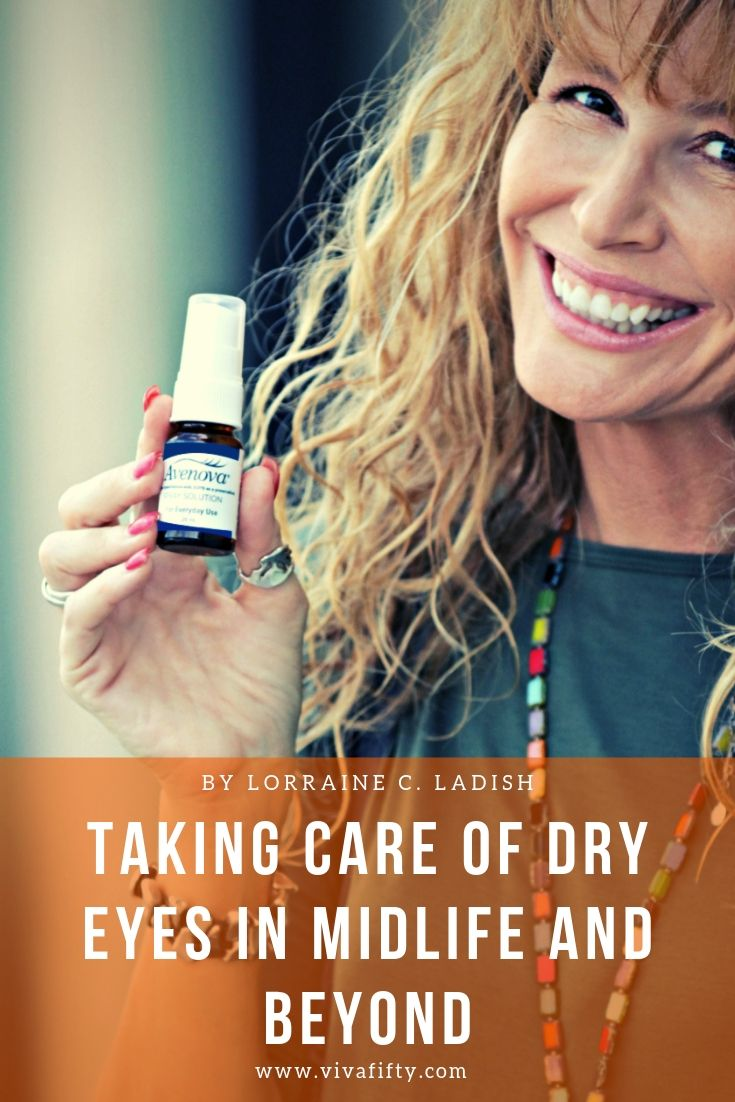 Dry eyes entered my life when I started menopause. Having a surefire remedy on hand makes my life, and my eyesight, a lot better. #ad #dryeyes #eyehealth #midlife