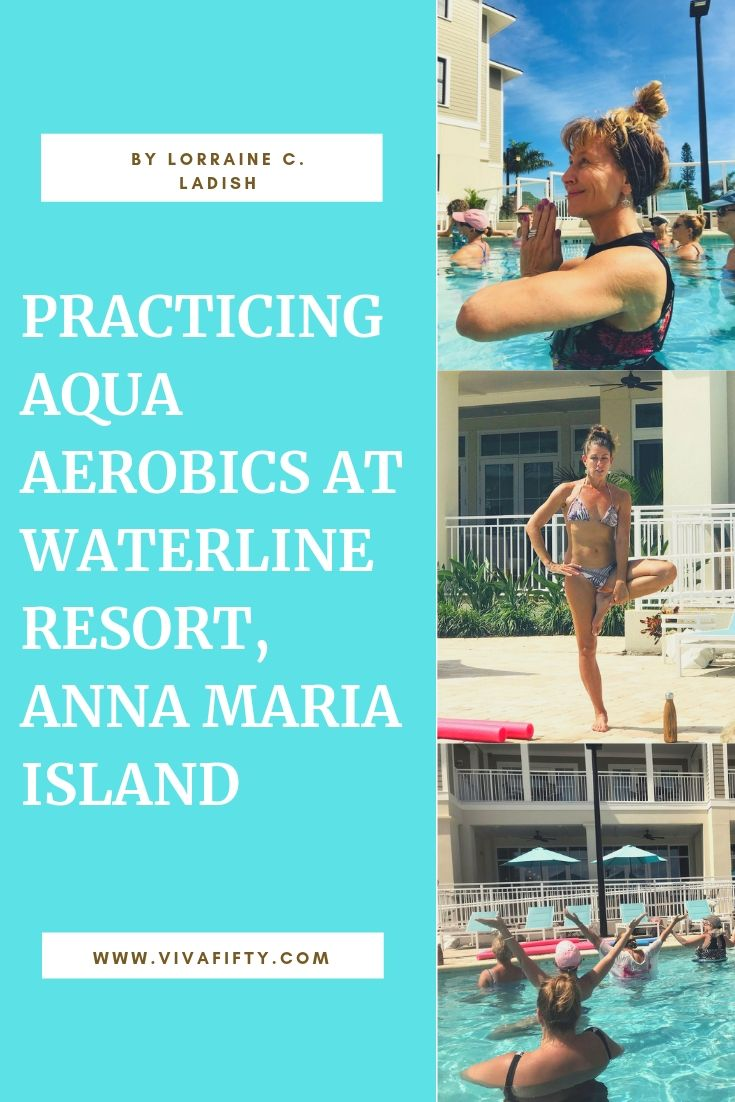 Aqua yoga is a great way to practice this discipline in an environment that makes it easy on the joints. It's also a fun and social way to explore asana yoga.  #yoga #aquayoga #senioryoga