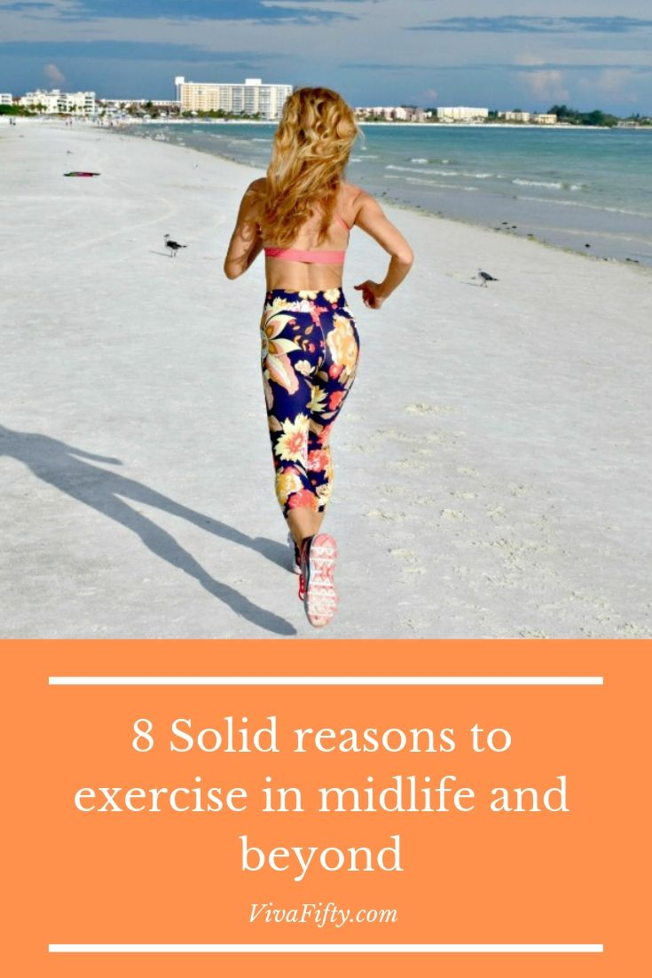 If you can´t muster the energy to get moving, maybe one of these eight reasons will get you going. Maybe do it for your kids or loved ones. #fitness #running #yoga #midlfe