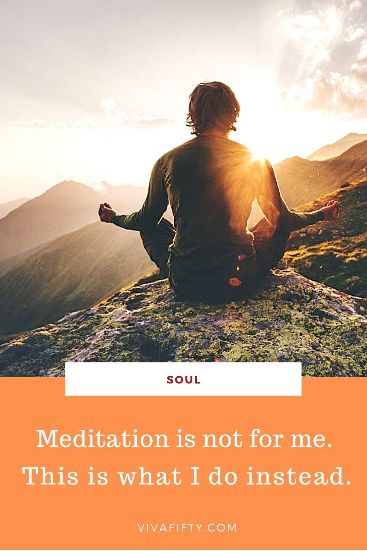 Man meditating PIN