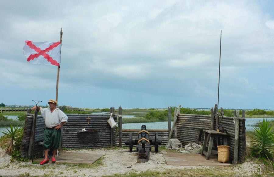 Cannon firing in castillo de San Marcos