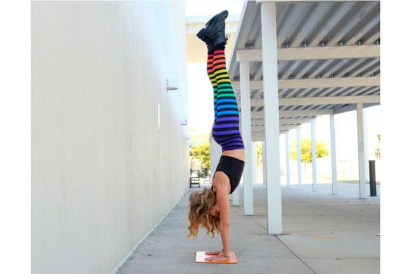 Lorraine C. Ladish handstand