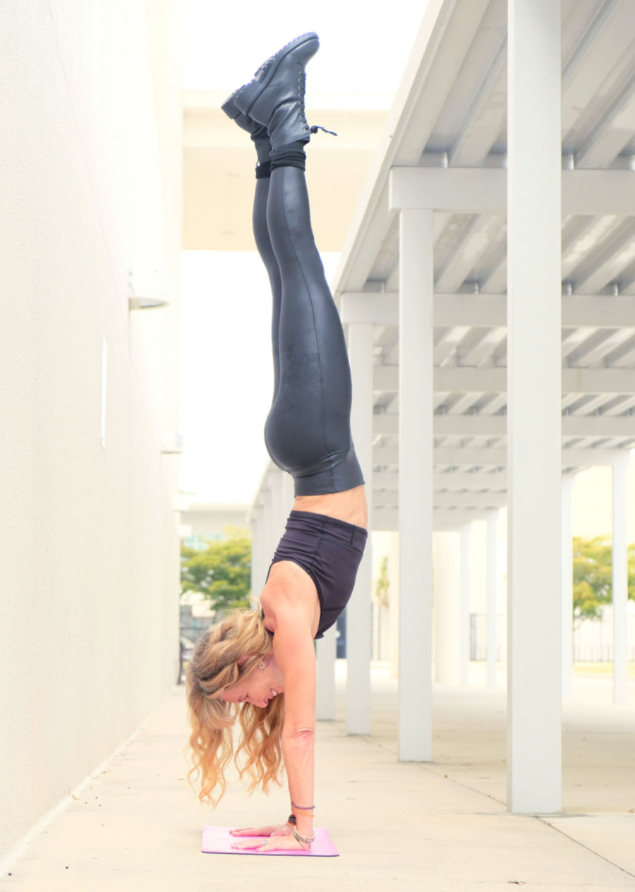Lorraine C. Ladish in handstand