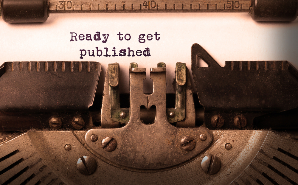Image of typewriter with the words ready to get published