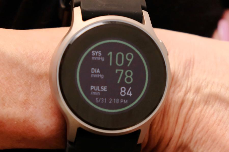 OMRON HEartguide w blood pressure reading