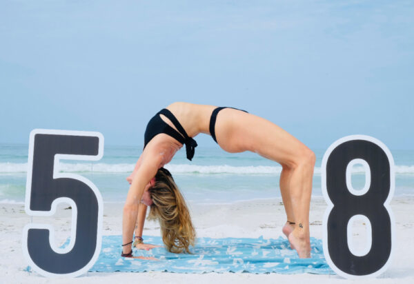 This year we did my 58th birthday photoshoot at Siesta Key beach, where the sand is 99% quartz and the ground is level.