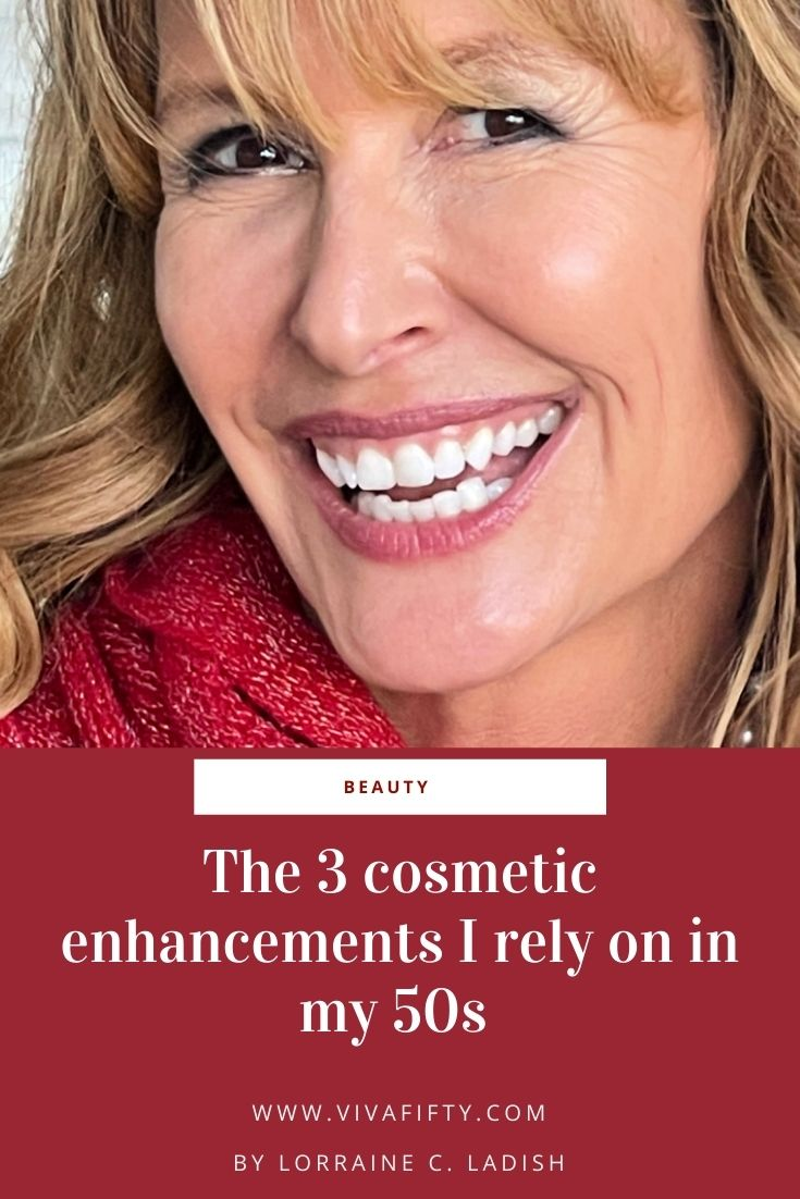 I get asked a lot how come my skin is reasonably smooth in my late fifties. Aside from taking care of myself, I've tried three cosmetic enhancements I like, and so I'm sharing them with you.