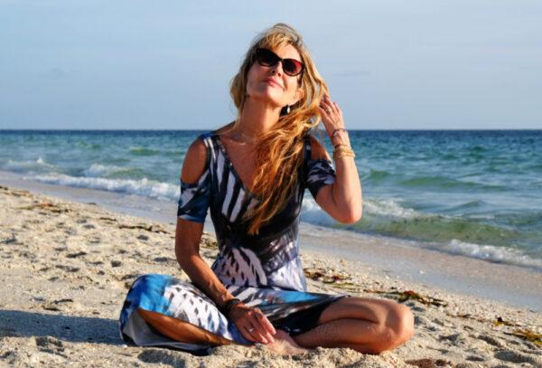 Lorraine C. Ladish at the beach