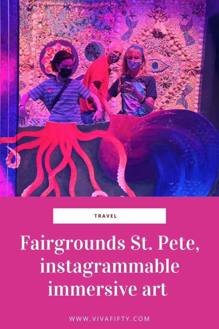 Fairgrounds St. Pete is an interactive art installation. Here we share our first visit through the lens of our smart phones.